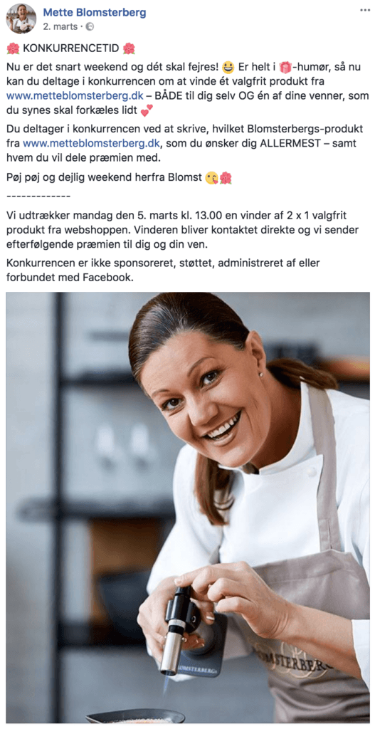 Facebook konkurrencer eksempler på