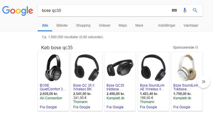 Optimering af produkt beskrivelser google shopping