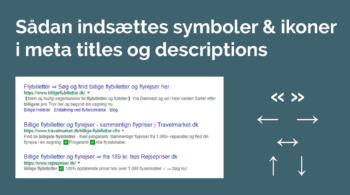 guide til at indsætte ikoner i meta title og beskrivelse