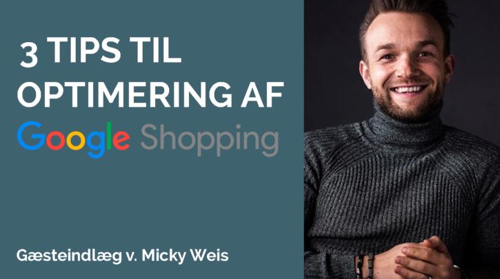 optimering af google shopping annoncer