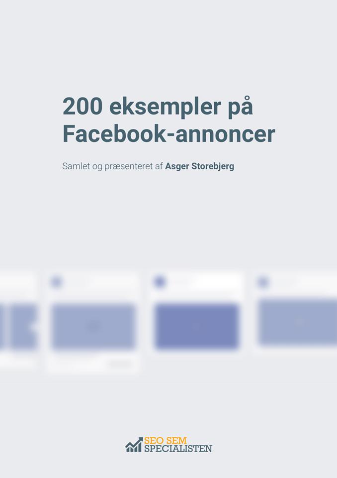 Ebog forside: 200 facebook annonceeksempler