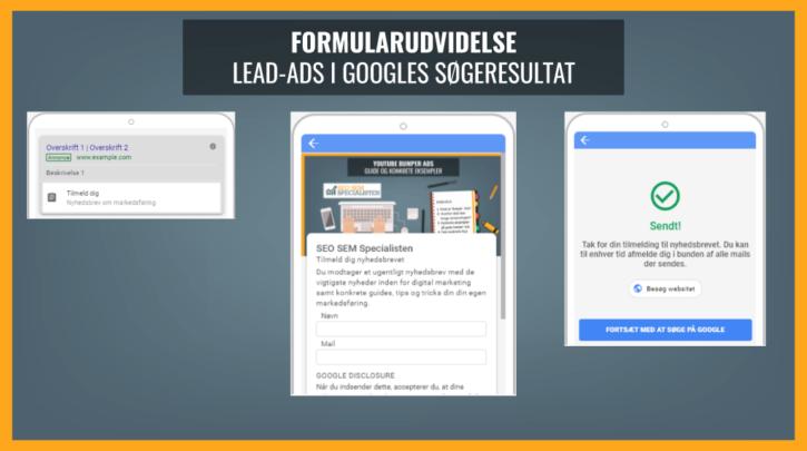 Formularudvidelse i google ads
