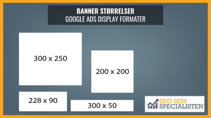 google display banner formater og størrelser