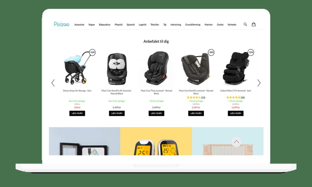 eksempel på produkt anbefalinger gennem hello retail